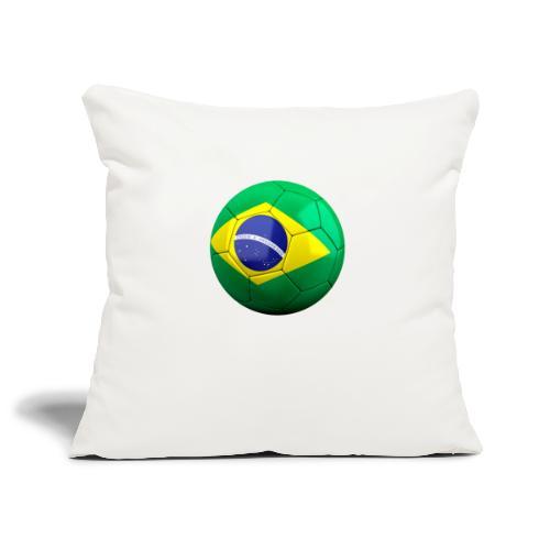 Bola de futebol brasil - Sofa pillowcase 17,3'' x 17,3'' (45 x 45 cm)