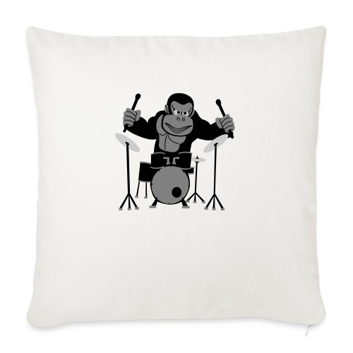 Drumming Gorilla - Sofa pillowcase 17,3'' x 17,3'' (45 x 45 cm)