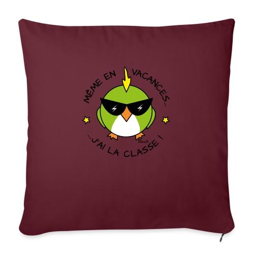 Oiseau Lunettes, Cadeau Instit, J'ai la Classe - Housse de coussin décorative 45x 45cm
