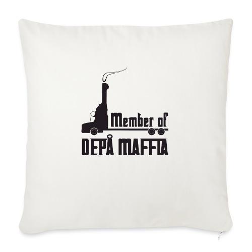 Depå Maffia svart tryck - Soffkuddsöverdrag, 45 x 45 cm