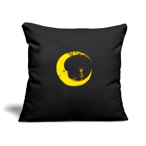 Fille sur la lune - Housse de coussin décorative 45x 45cm