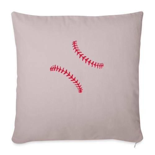 Realistic Baseball Seams - Sofa pillowcase 17,3'' x 17,3'' (45 x 45 cm)