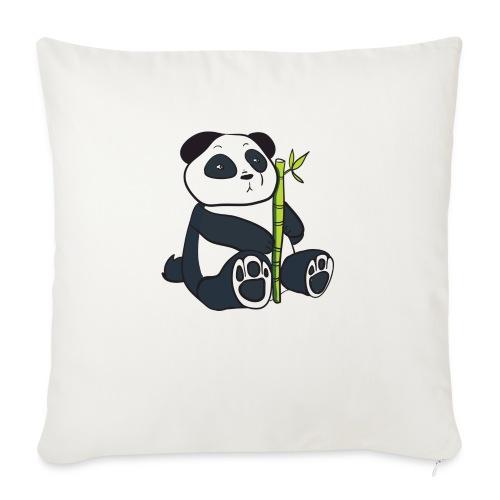 Oso Panda con Bamboo - Funda de cojín, 45 x 45 cm