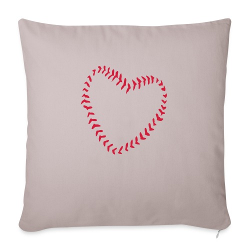 2581172 1029128891 Baseball Heart Of Seams - Sofa pillowcase 17,3'' x 17,3'' (45 x 45 cm)