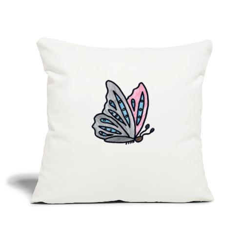 Fjäril - Soffkuddsöverdrag, 45 x 45 cm