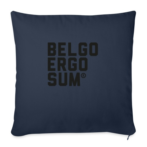 Belgo Ergo Sum - Sofa pillowcase 17,3'' x 17,3'' (45 x 45 cm)