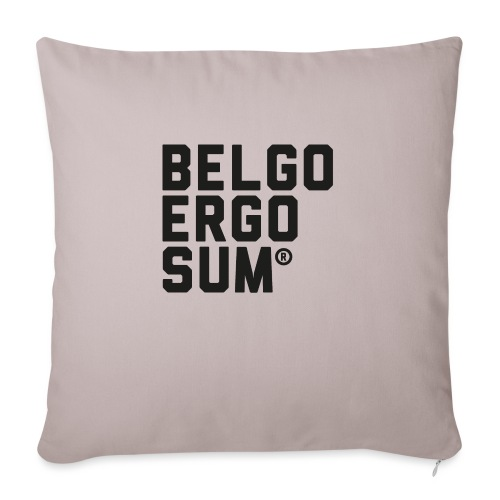 Belgo Ergo Sum - Sofa pillowcase 17,3'' x 17,3'' (45 x 45 cm)