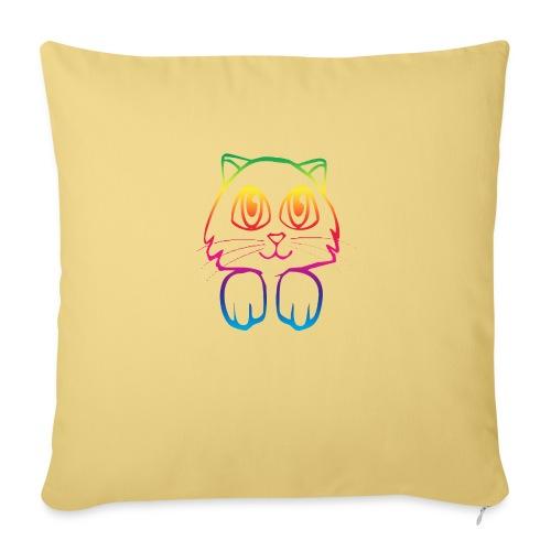 rainbow_pussy - Sofa pillowcase 17,3'' x 17,3'' (45 x 45 cm)