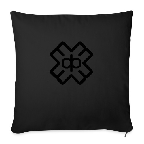d3ep logo black png - Sofa pillowcase 17,3'' x 17,3'' (45 x 45 cm)