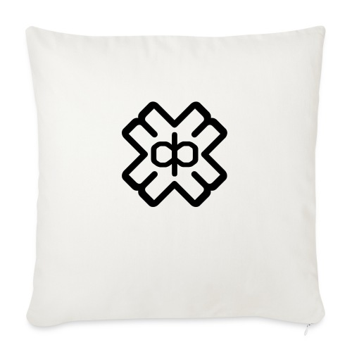 d3ep logo black png - Sofa pillowcase 17,3'' x 17,3'' (45 x 45 cm)