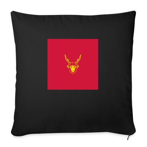scimmiacervo sfondo rosso - Copricuscino per divano, 45 x 45 cm
