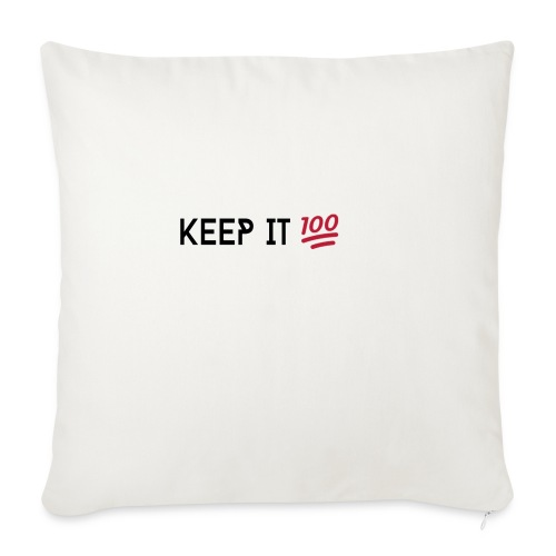 KEEP IT 100 ZWART png - Sierkussenhoes, 45 x 45 cm