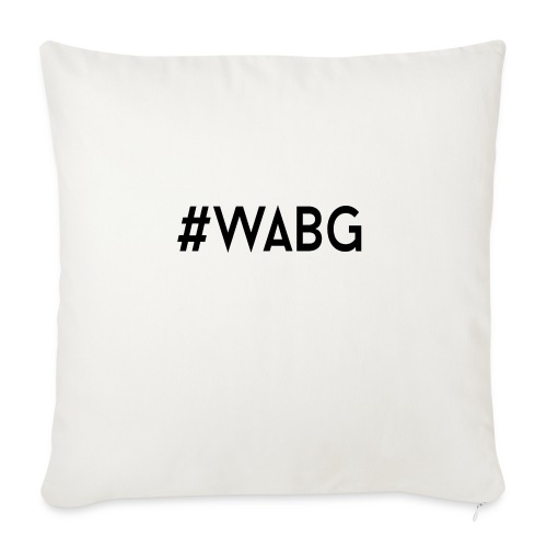 WABG ZWART png - Sierkussenhoes, 45 x 45 cm