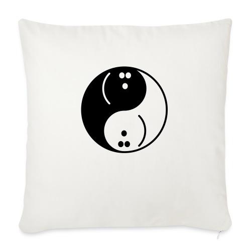 Bowling Yin-Yang - Sofa pillowcase 17,3'' x 17,3'' (45 x 45 cm)