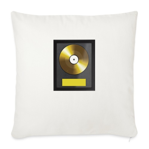 Goldene Schallplatte - Sofakissenbezug 44 x 44 cm