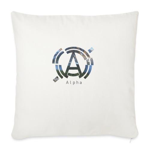 AlphaOfficial Logo T-Shirt - Sofa pillowcase 17,3'' x 17,3'' (45 x 45 cm)
