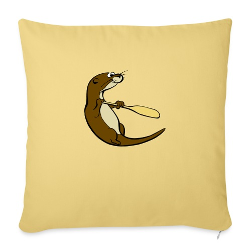 Classic Song of the Paddle otter logo - Sofa pillowcase 17,3'' x 17,3'' (45 x 45 cm)