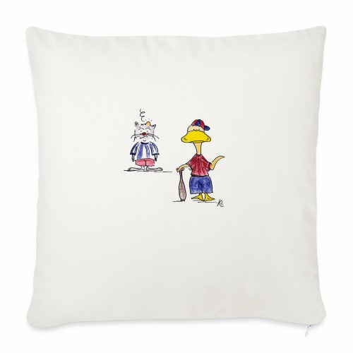 Cartoon Baseball - Sofakissenbezug 44 x 44 cm