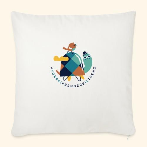 Tartaruga e uccellino - Copricuscino per divano, 45 x 45 cm