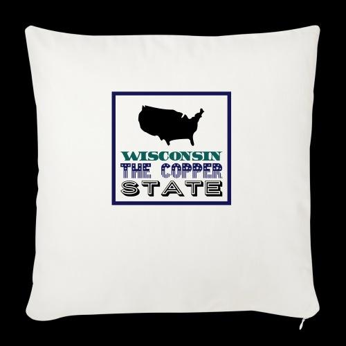 WISCONSIN THE COPPER STAT - Sofa pillowcase 17,3'' x 17,3'' (45 x 45 cm)