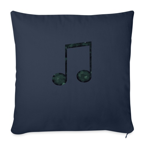 Low Poly Geometric Music Note - Sofa pillowcase 17,3'' x 17,3'' (45 x 45 cm)