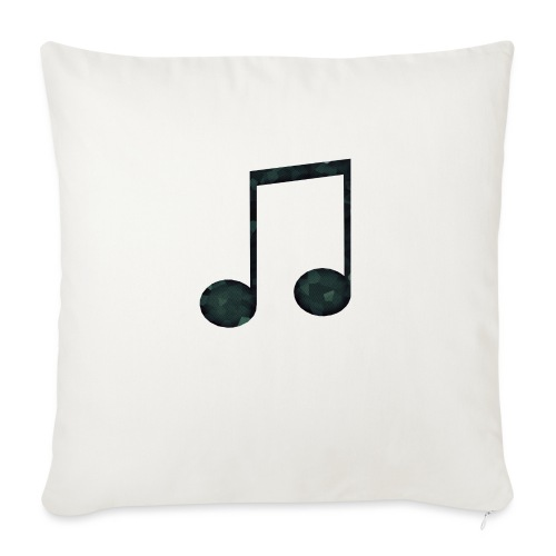 Low Poly Geometric Music Note - Sofa pillowcase 17,3'' x 17,3'' (45 x 45 cm)