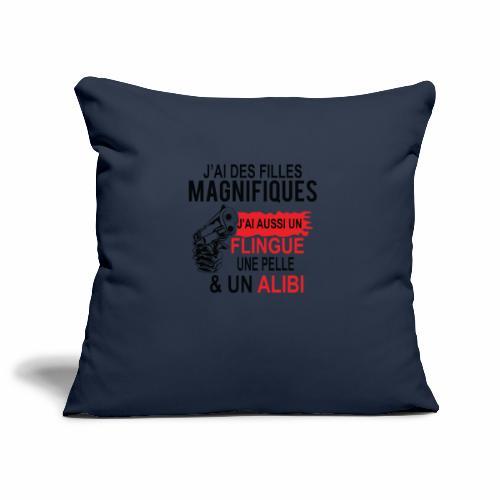 J'AI DEUX FILLES MAGNIFIQUES Best t-shirts 25% - Housse de coussin décorative 45x 45cm