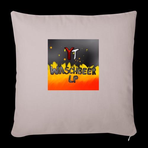 Waschbeer Design 2# Mit Flammen - Sofakissenbezug 44 x 44 cm