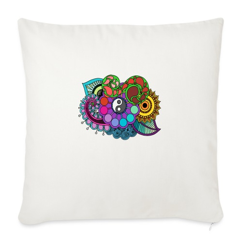 Coloured Nature Mandala - Sofa pillowcase 17,3'' x 17,3'' (45 x 45 cm)