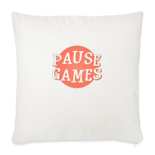 Pause Games Logo - Sofa pillowcase 17,3'' x 17,3'' (45 x 45 cm)