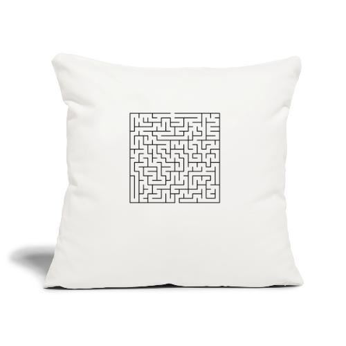 SQUARE MAZE - Sofa pillowcase 17,3'' x 17,3'' (45 x 45 cm)