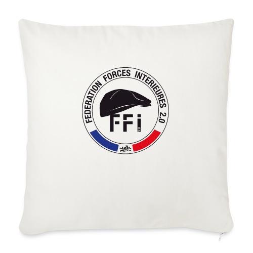 FFi beret NOIR - Housse de coussin décorative 45x 45cm