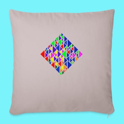A square school of triangular coloured fish - Sofa pillowcase 17,3'' x 17,3'' (45 x 45 cm)