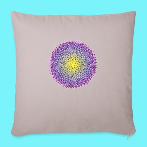 Fibonacci based image with radiating elements - Sofa pillowcase 17,3'' x 17,3'' (45 x 45 cm)