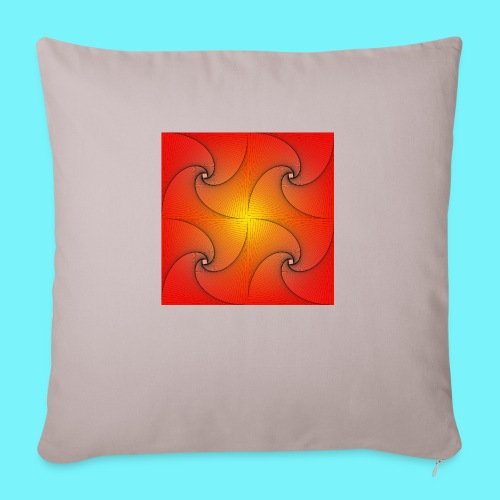 Pursuit curve in red and yellow - Sofa pillowcase 17,3'' x 17,3'' (45 x 45 cm)