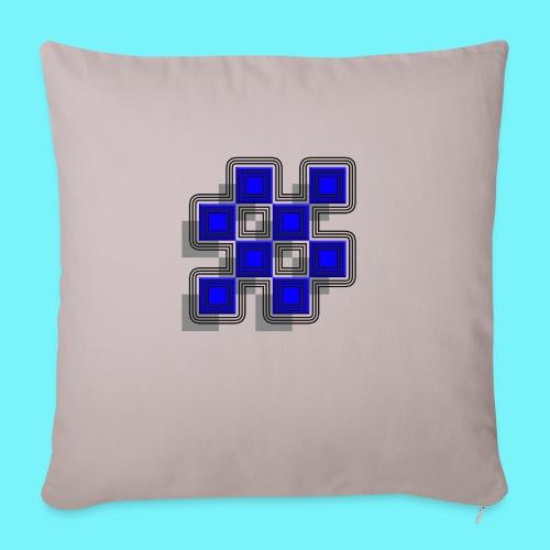 Blue Blocks with shadows and perimeters - Sofa pillowcase 17,3'' x 17,3'' (45 x 45 cm)
