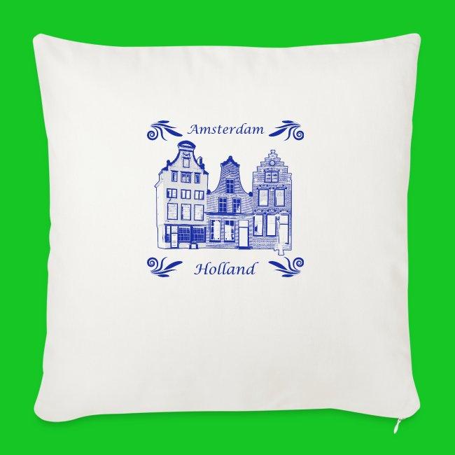 Holland Grachtenpanden Delfts Blauw