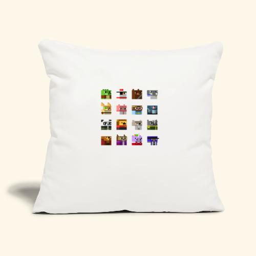 A Planet of Mine Animals - Sofa pillowcase 17,3'' x 17,3'' (45 x 45 cm)