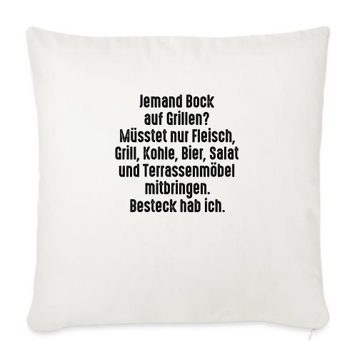 Bock auf Grillen Fleisch Steak Kohle Salat Besteck - Sofa pillowcase 17,3'' x 17,3'' (45 x 45 cm)