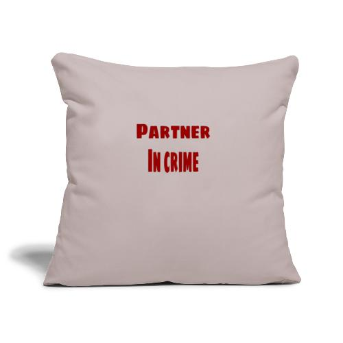 Partner in crime red - Soffkuddsöverdrag, 45 x 45 cm