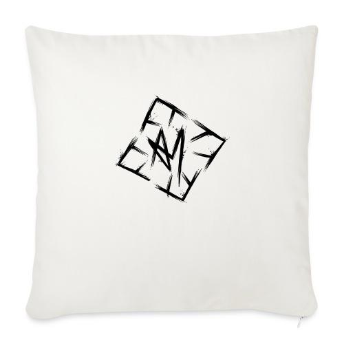 Across Yourself - Logo black transparent - Sofa pillowcase 17,3'' x 17,3'' (45 x 45 cm)