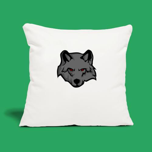 wolf logo - Copricuscino per divano, 45 x 45 cm