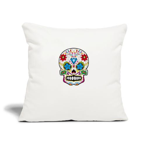 skull5 - Copricuscino per divano, 45 x 45 cm