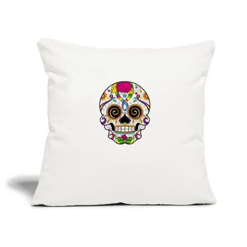 skull3 - Copricuscino per divano, 45 x 45 cm