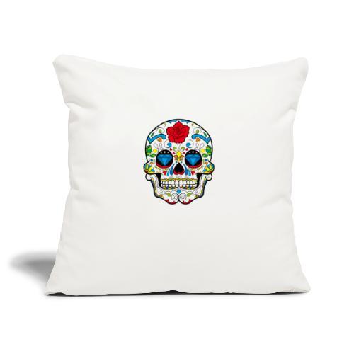 skull2 - Copricuscino per divano, 45 x 45 cm