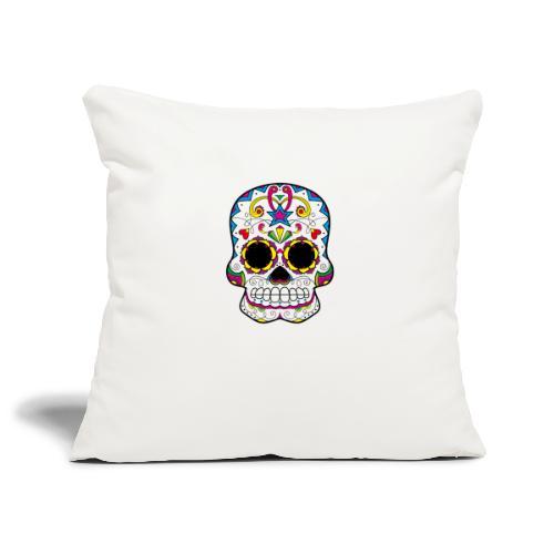 skull7 - Copricuscino per divano, 45 x 45 cm