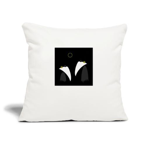 Raving Ravens - lunar eclipse - Housse de coussin décorative 45x 45cm