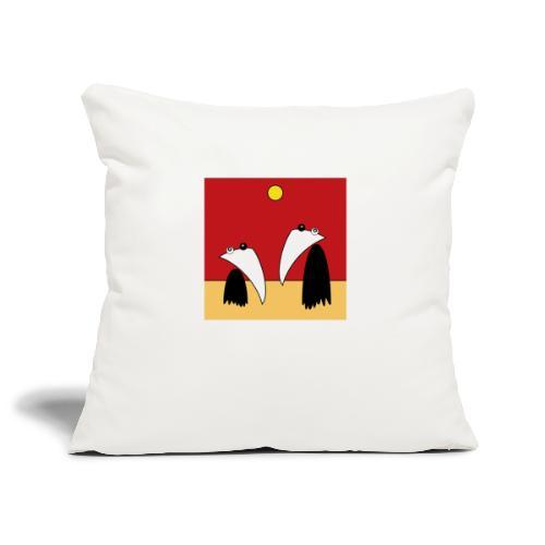 Raving Ravens - in the desert - Sofa pillowcase 17,3'' x 17,3'' (45 x 45 cm)