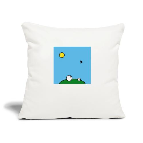 Hungry Frog - lunch time - Sofa pillowcase 17,3'' x 17,3'' (45 x 45 cm)