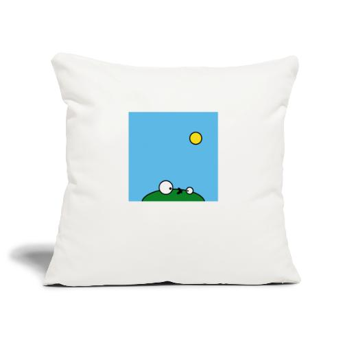 Hungry Frog - suicide fly - Sofa pillowcase 17,3'' x 17,3'' (45 x 45 cm)